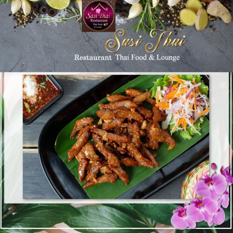 Voorgerecht, chicken wings, gemaakt in Sasi Thai Restaurant